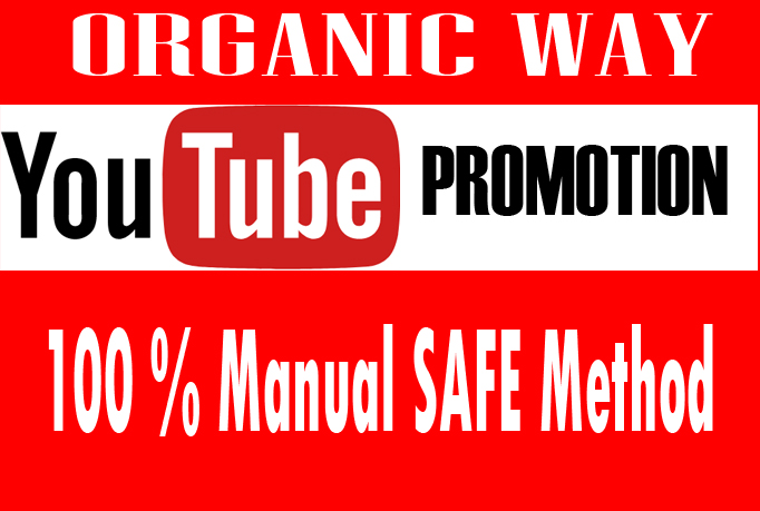 I will promote your  youtube video natural organic relevant seo links