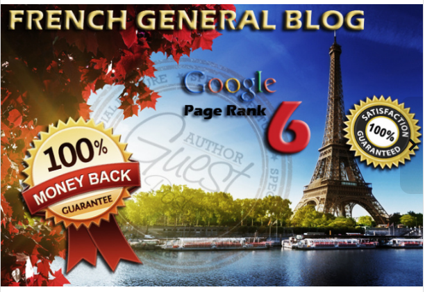 guest post your article on FRENCH PR6 general blog