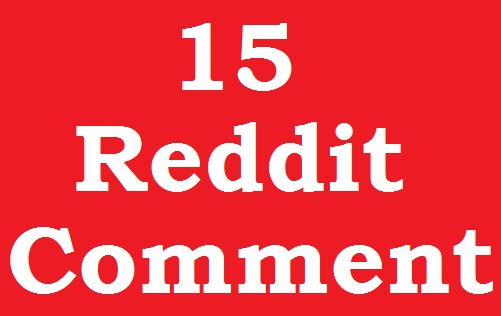 Instant 15 Reddit Coment On Your Page