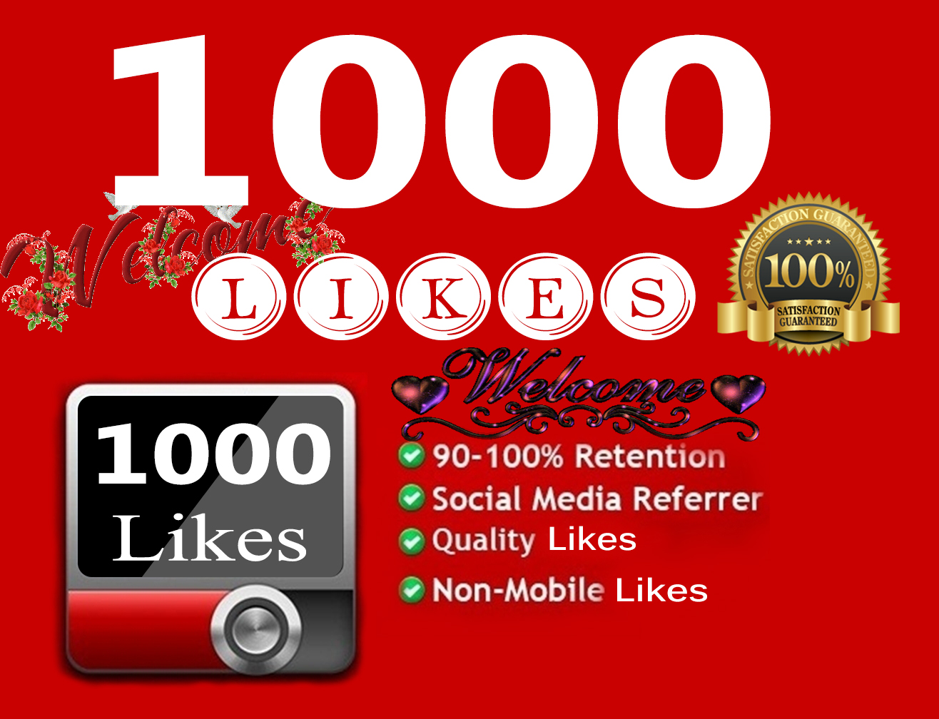 Guaranteed 1000+ YouTube Video Likes Very Fast Only