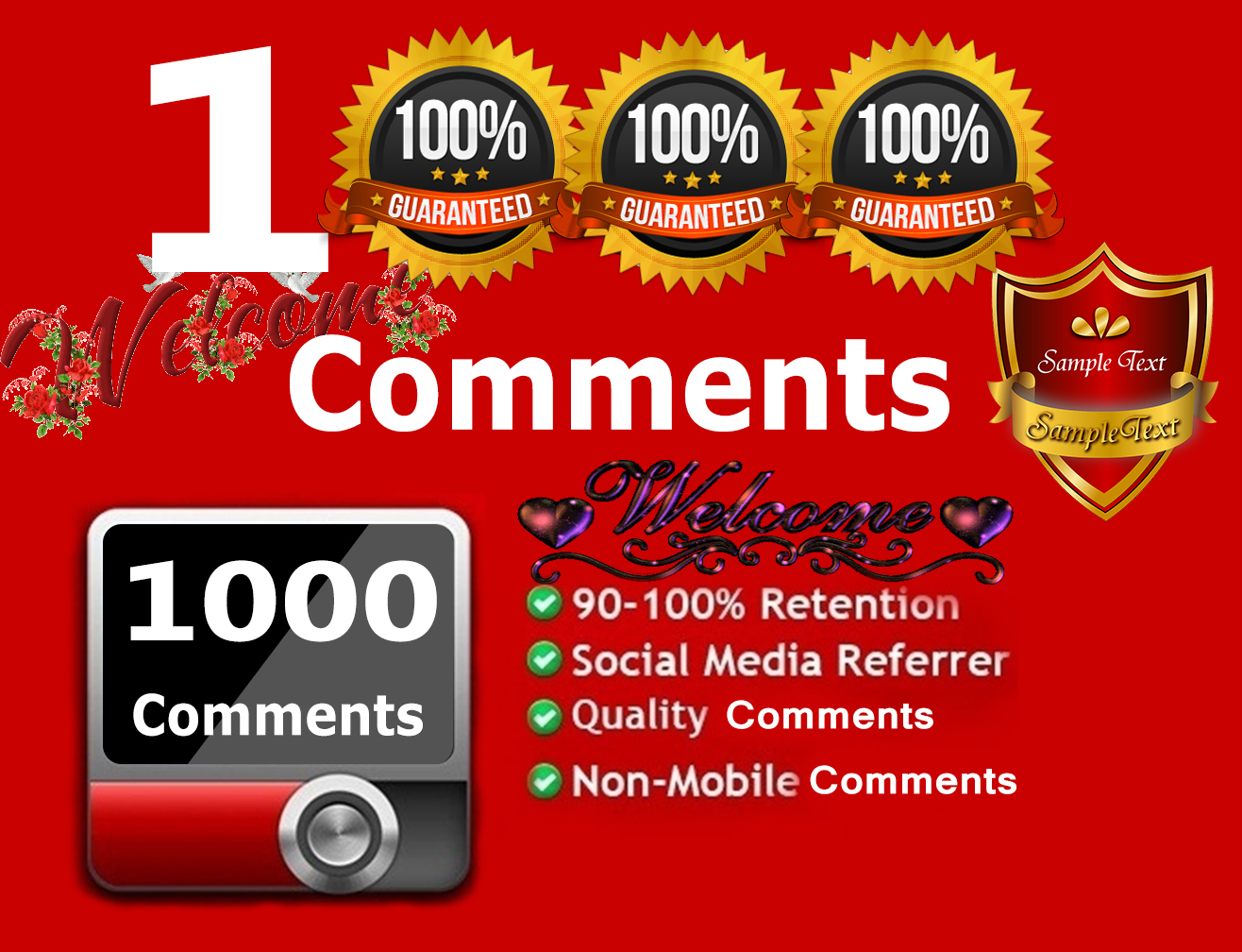 Get 1000 Custom YouTube Comments Worldwide Only