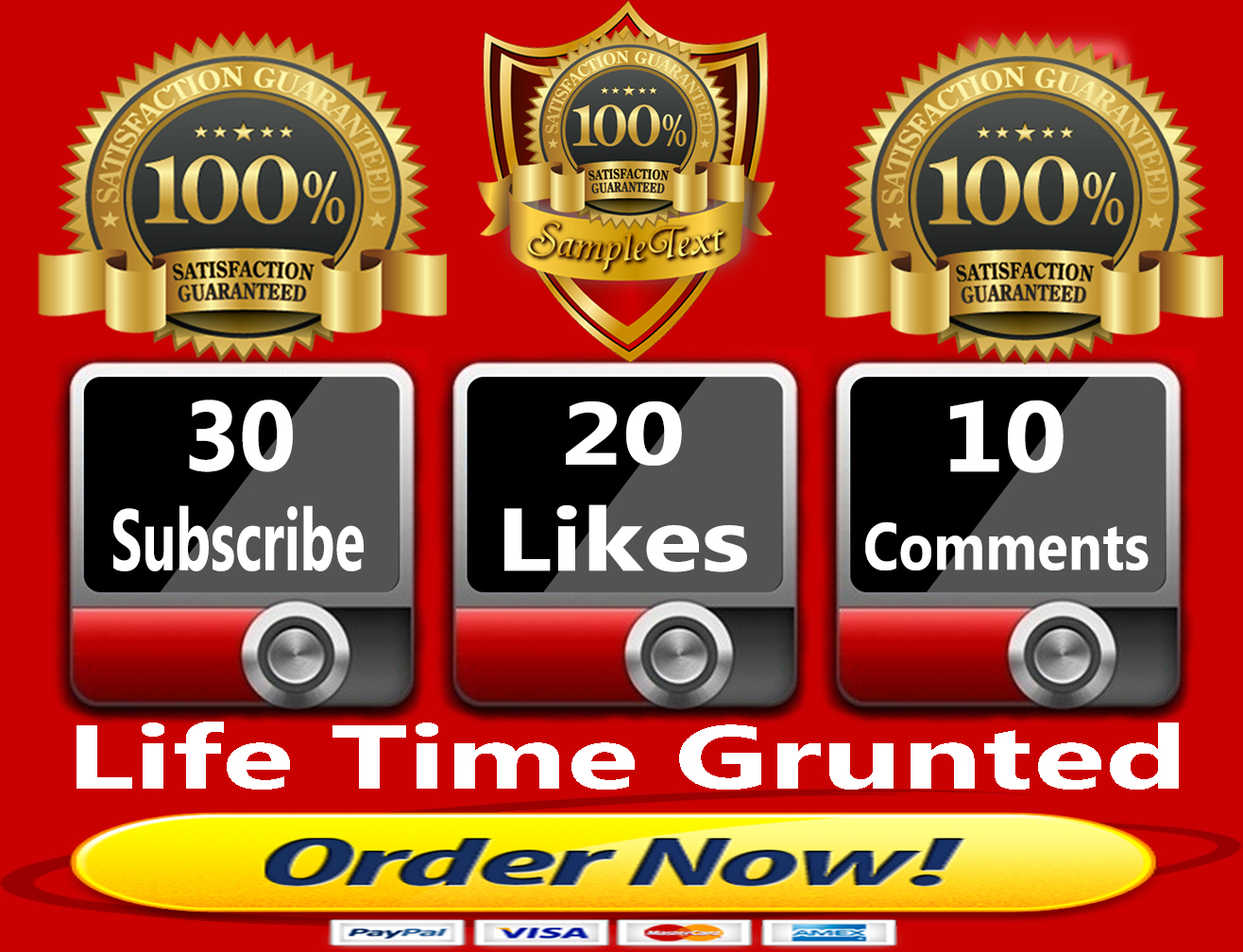 Get High Quality 30TY Subscribe+20TY Likes+10TN Comments Your YouTube Marketing Video