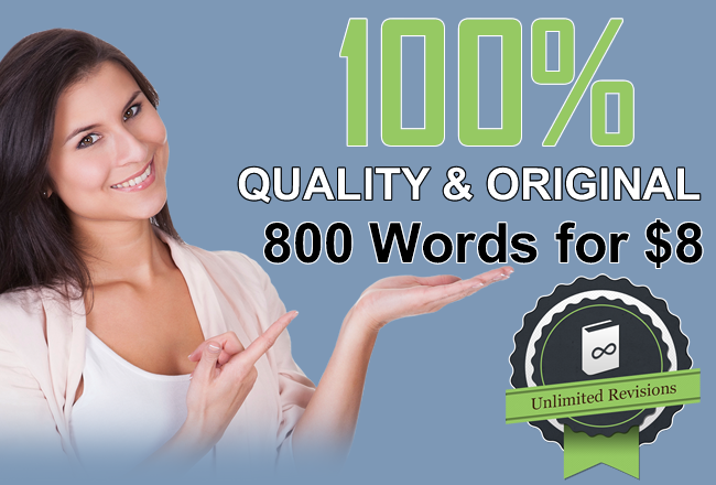 Write Original and Quality 800 Words Article