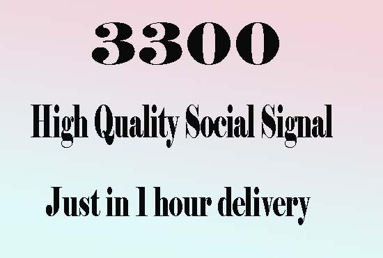 Super Fast 3300 Best Seo Social Signals