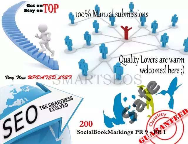 I will do Manual Social bookmarking upto 200 sites PR 9 to 3 with guaranteed Index