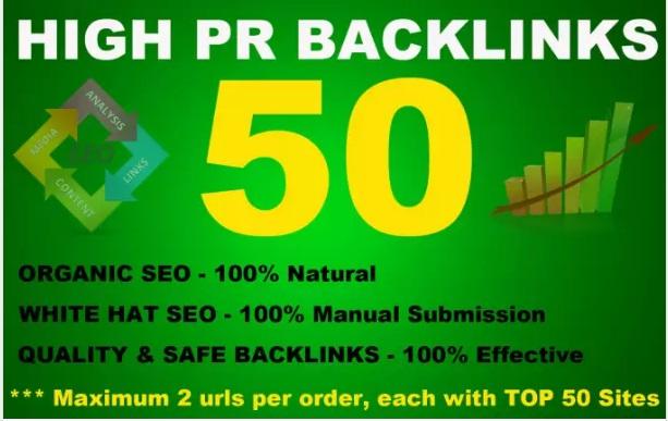 I will do 50 High PR Backlinks from PR9 to PR3,  Seo Online Marketing