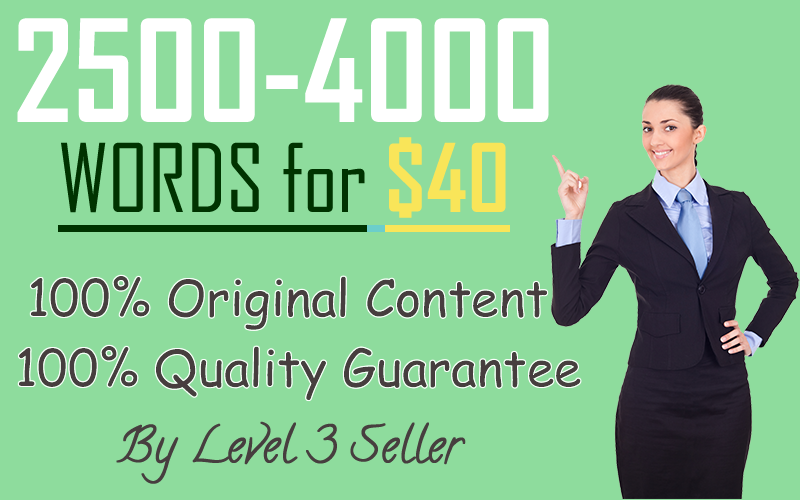 Get 2500-4000 Words Authority Content on any Niche