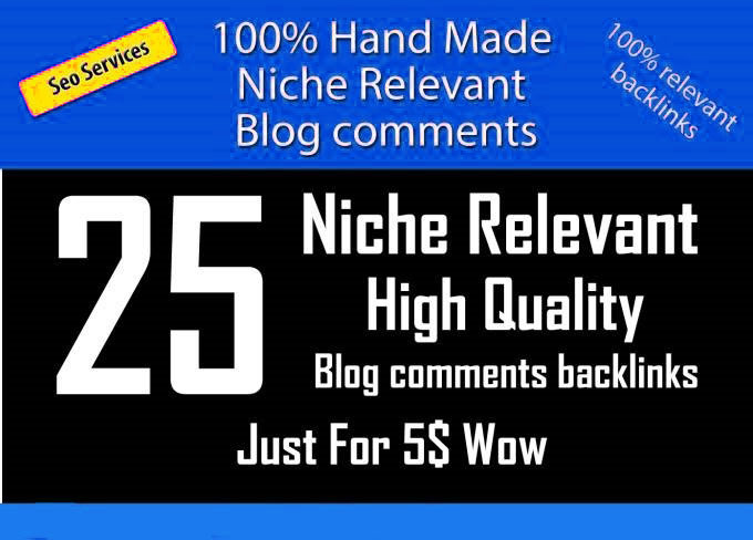 i will do 25 Niche Relevant blog comments BACKLINKS
