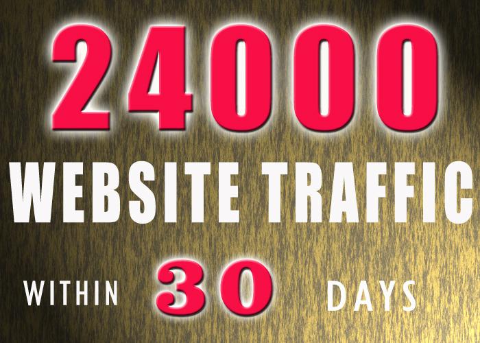 24000  website traffic