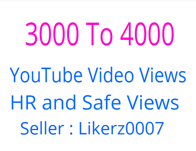 Get 3000 ++   High Retention and Safe YouTube Video Promotion