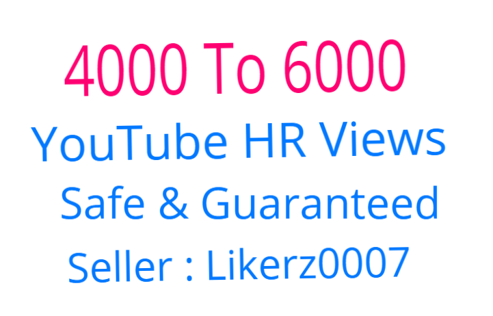 Get 4000 To 6000 High Retention and Safe YouTube Video Promotion