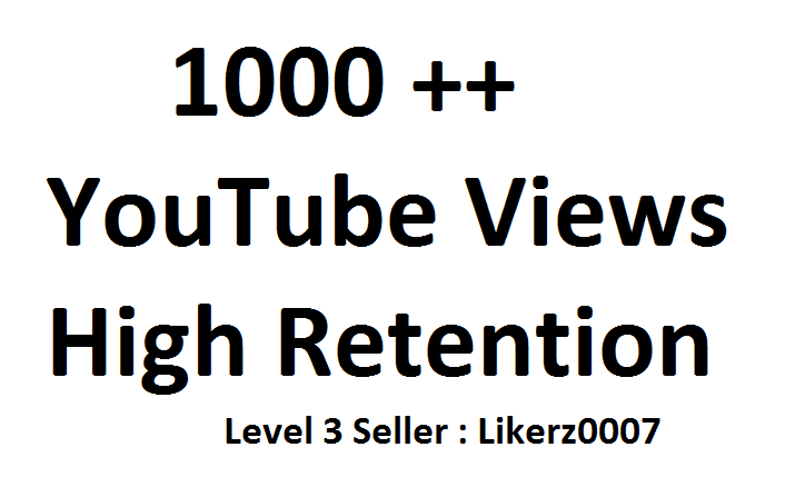 Get 1000  High Retention and Safe YouTube Video Promotion