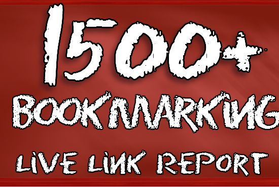 1500 Social Bookmarking Submit Even Youtube Video Best Bookmarking