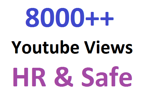Get Promotion OF 8000++ High Retension YouTube Video Views