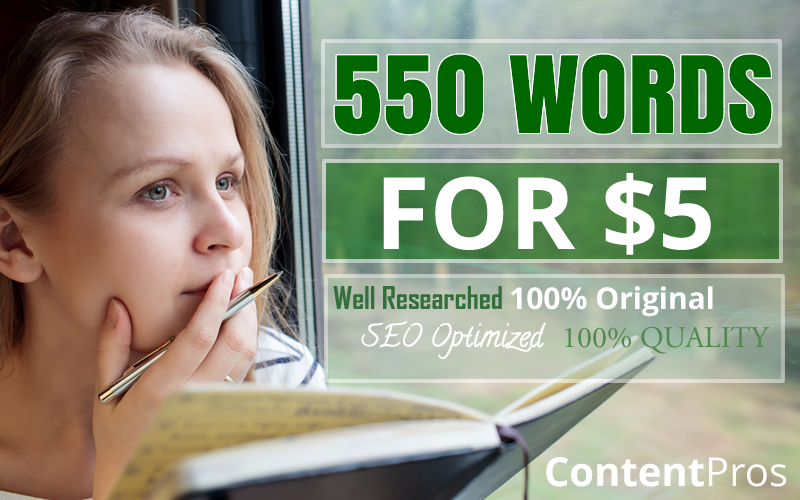 Get 550 Engaging Words Article or Review