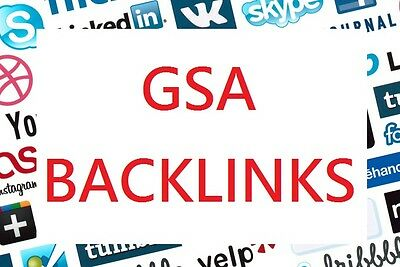 SEO create verified 400000 GSA backlinks for your site booster for higher rank