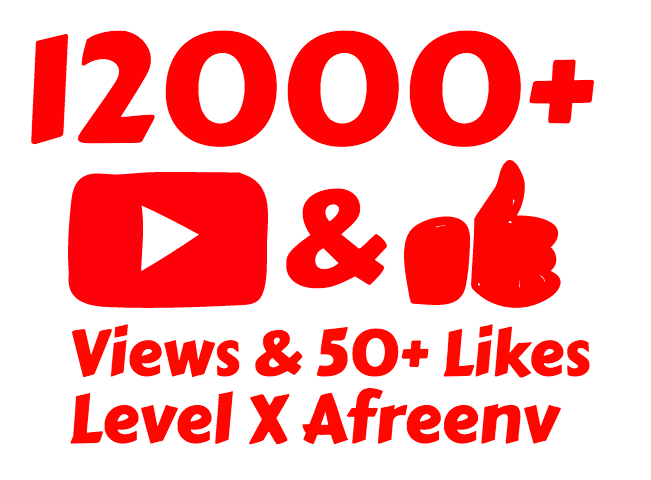 add 12,000+ High Quality Youtube views and 100+ Like's in Just