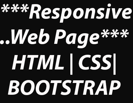 Create or customize your html/css web page