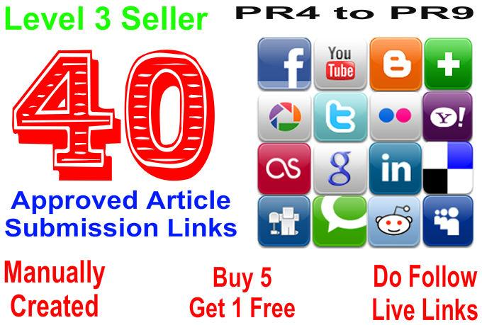 submit and approve your article in 40 article submission sites