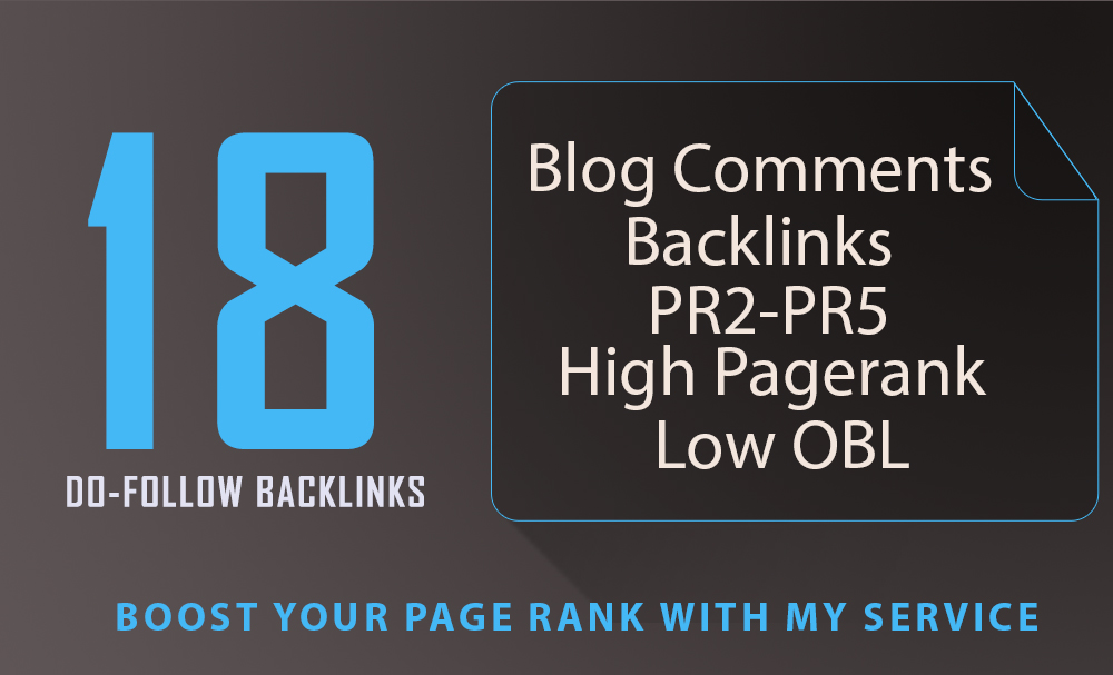 Provide 18 Niche Related Blog Comment Links