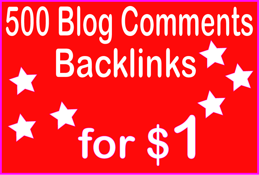 Submit You HQ PR 500 Blog Comment Backlinks
