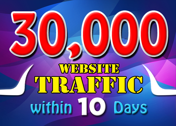 drive 30000 KEYWORD TARGETED visitors website traffic