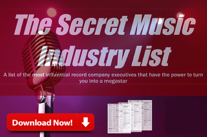 Exclusive Music Industry Contacts. You'll Miss Out.