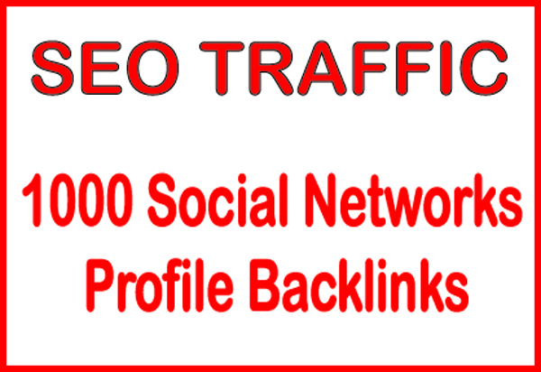 Do HQ PR 1000 ​Social Networks profile backlinks