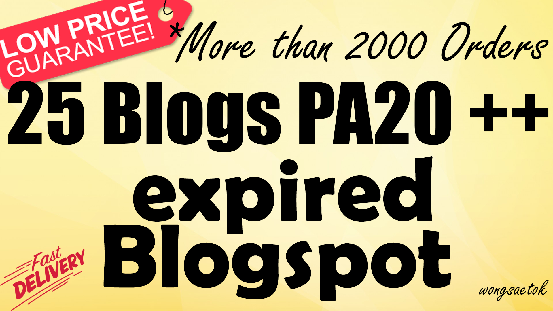 600+ Orders - Provide 25 Expired Blogspot PA 20 and above