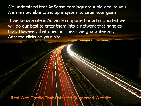 Real Web Traffic That Cater Ad Supported Website