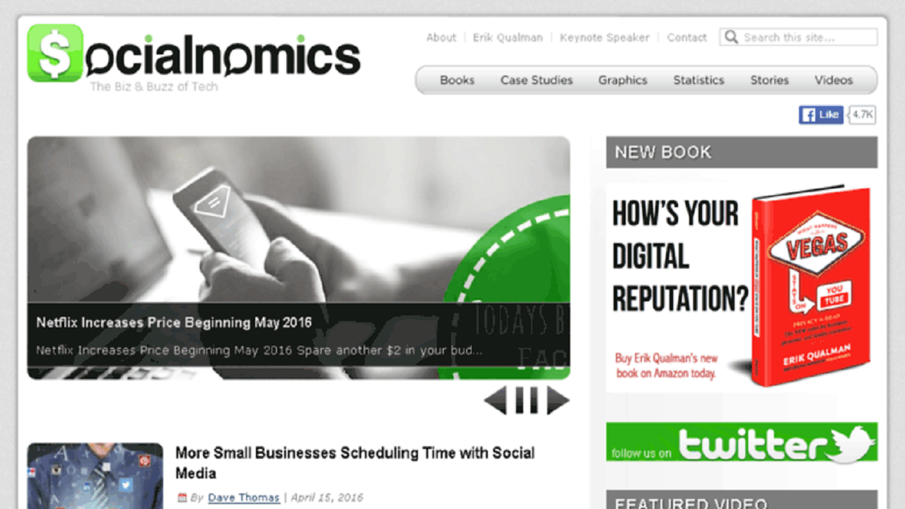 Write and Publish an article on Socialnomics.net (PA71, DA65, PR6)