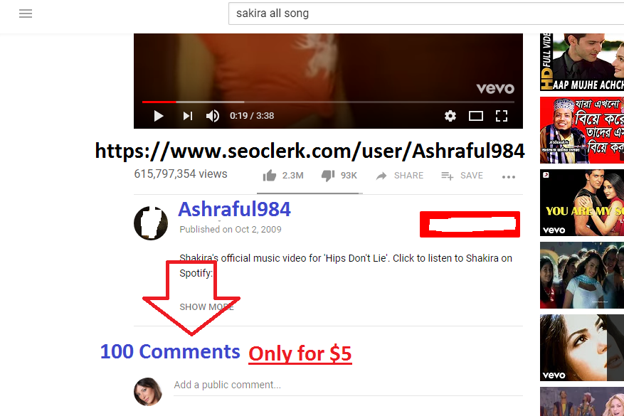 100 comments for Seo ( Search Ranking)