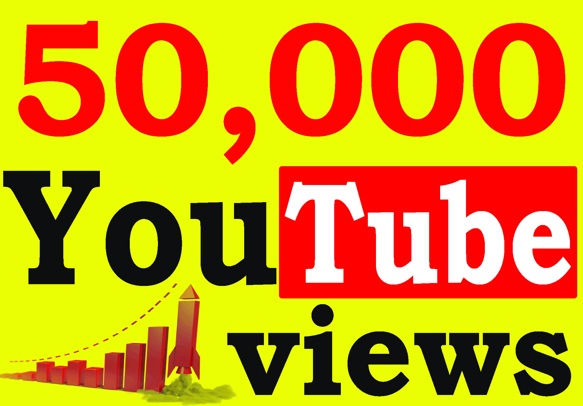 Fast 50,000+ High Retention 90 To 100 percent YouTube Views