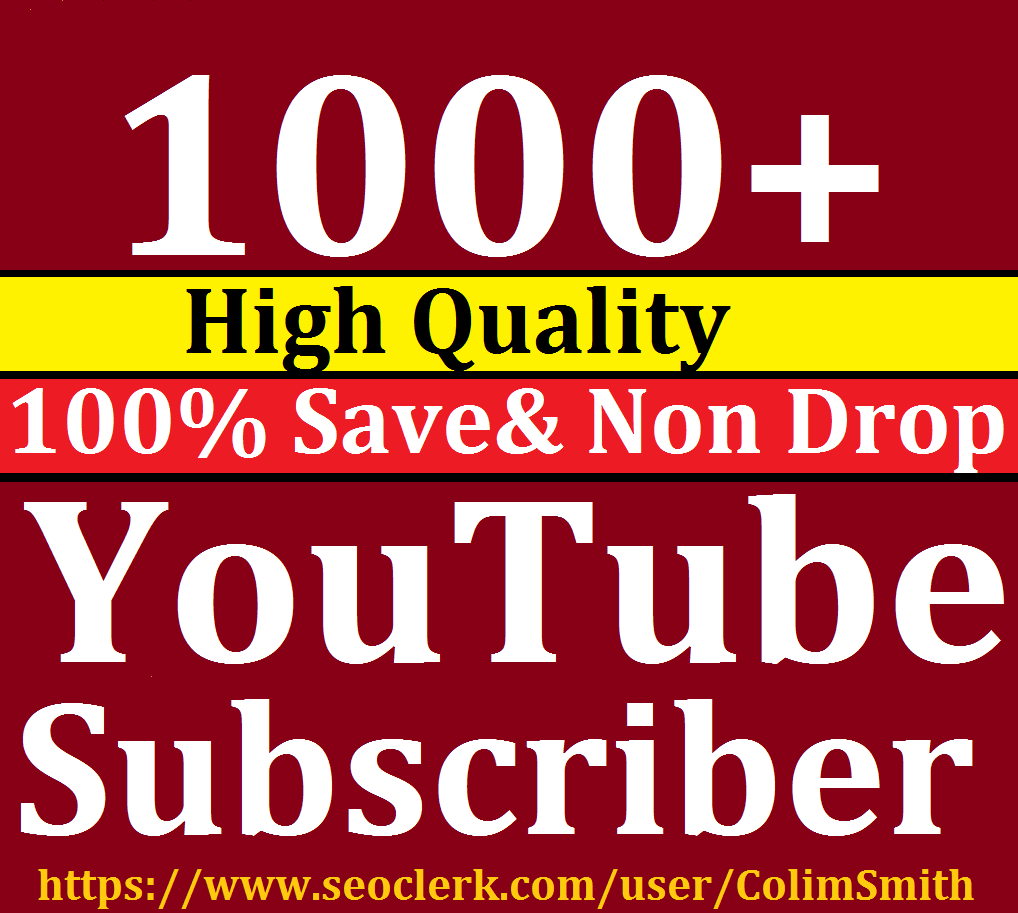 Instant 1001+Youtube Subcrib ers Super Ultra Speed
