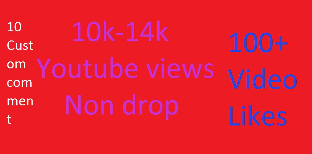 10,000-14,000+ Y T Vie*w 100+ Lik*es