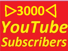 3000 YouTube Subscribers Give You No Refill Service Only