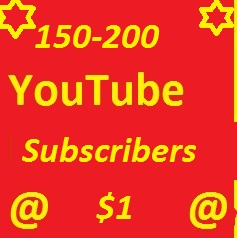 Super Fast 150-200 YouTube Subscribers Refill Guaranteed Only