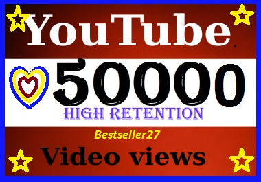 50,000 YouTube V-iew-s non drop 24-48 hours completed