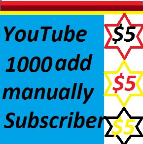 5000 YouTube Subscribers very cheap and fast completed