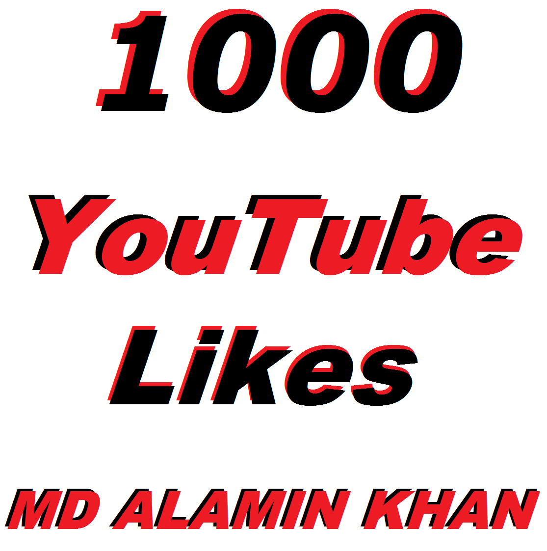 Get 1,000 Youtube Video Likes In 24/36 Hours