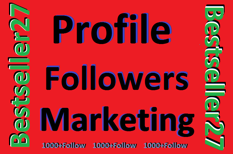 Instant Service Profile Followers non drop user only
