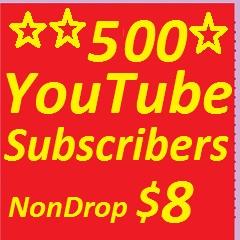 10000 YouTube Views or 500 YouTube subscribers non drop guaranteed