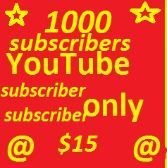 2000 YouTube subscribers non drop guaranteed or 5000 YT Likes