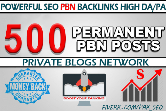 Create 500 Permanent Homepage PBN Dofollow links