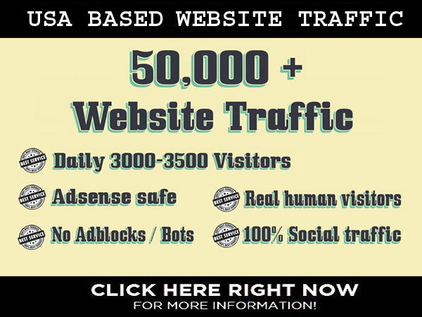 drive 50,000 unlimited, Targeted Website, Traffic, Social Visitors