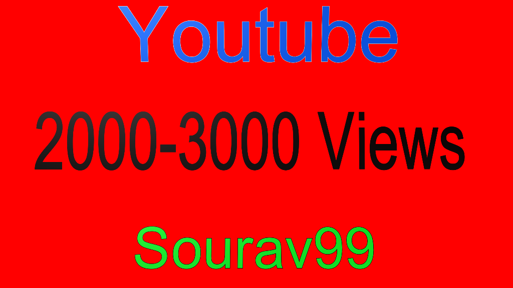 Youtube 2000-3000 High Quality Views Or 300 High quality Likes
