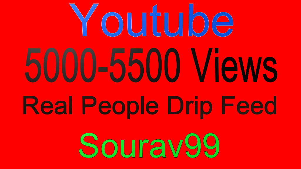 Youtube 5000-5500 Real Desktop Views Or 300 High quality Likes