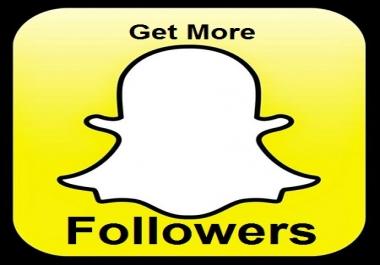 60 REAL SNAPCHAT followers