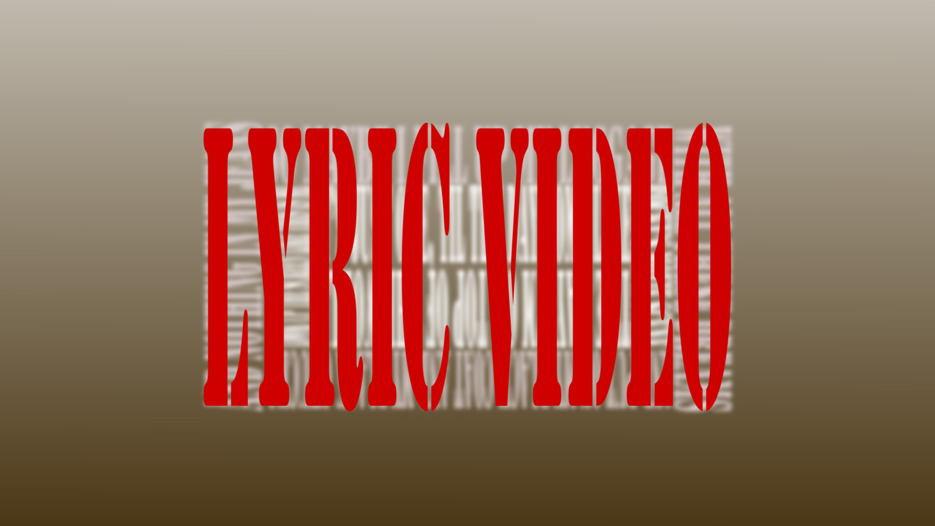 I will create a lyric video for your song