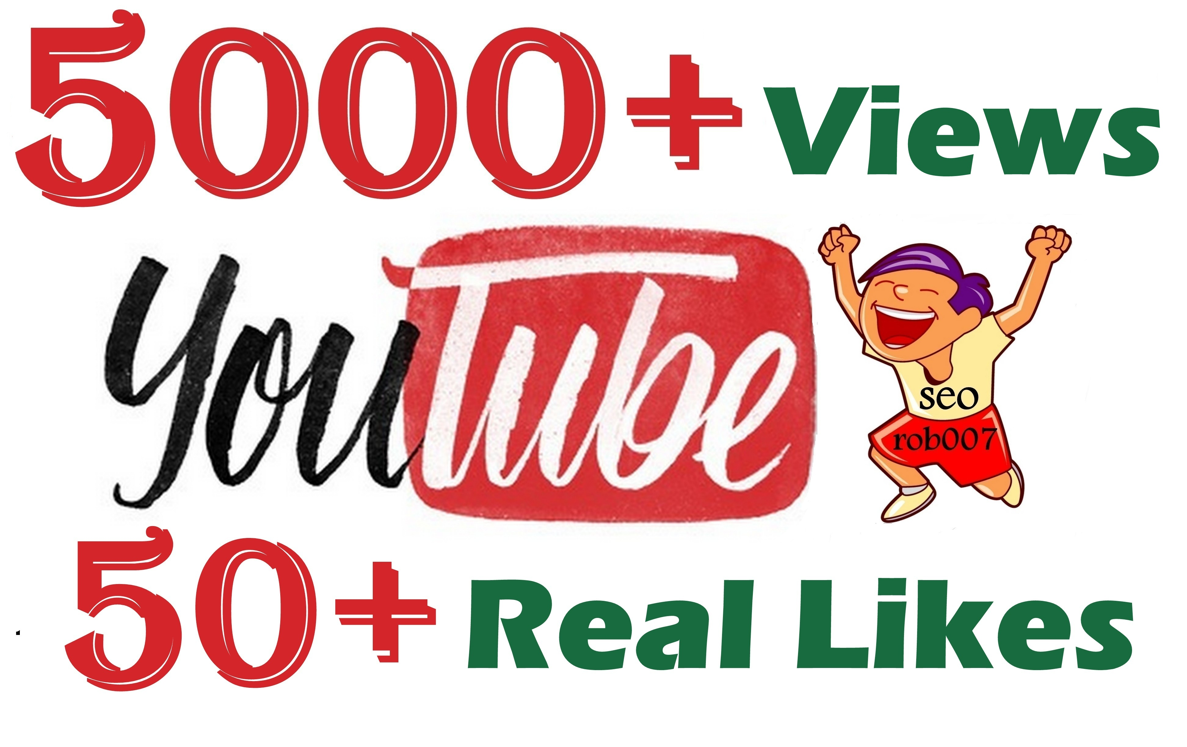 Safe 5000+ YouTube Views & 50+ Youtube Likes Promotion in 24-48 Hours Delivery
